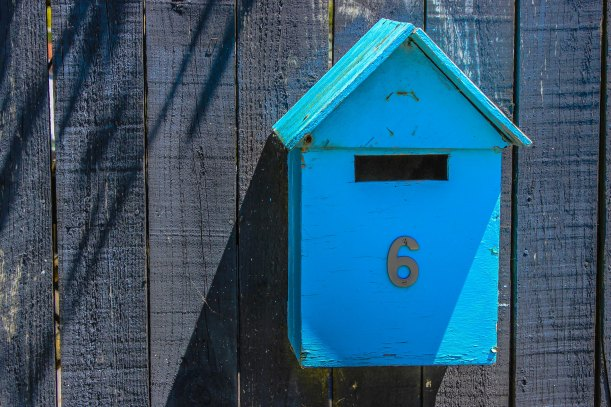 aqua letterbox