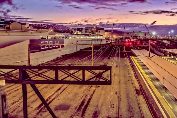 rail at dawn