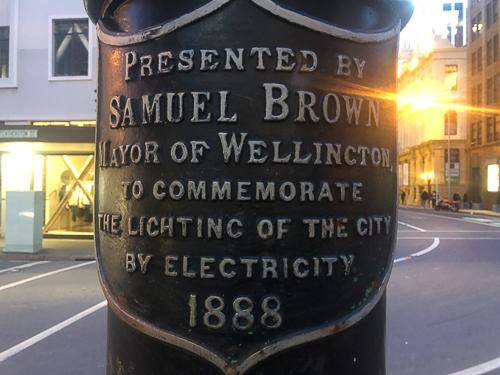 street lights plaque